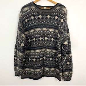Banana Republic Ugly Sweater XL Lambswool Pullover